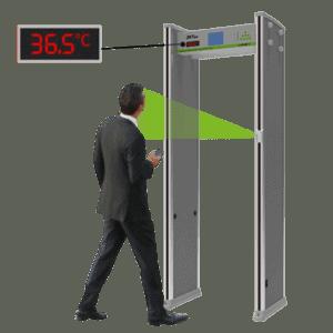 Detekčný rám s meraním teploty